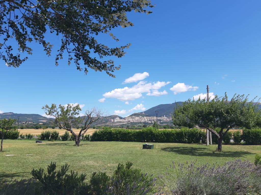 La vista dall'Agriturismo Assisium